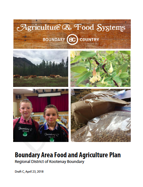 Boundary Area Food and Agriculture Plan - Regional District of Kootenay Boundary