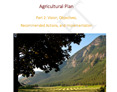 SLRD Area B, District of Lillooet, and St'at'imc Agricultural Plan