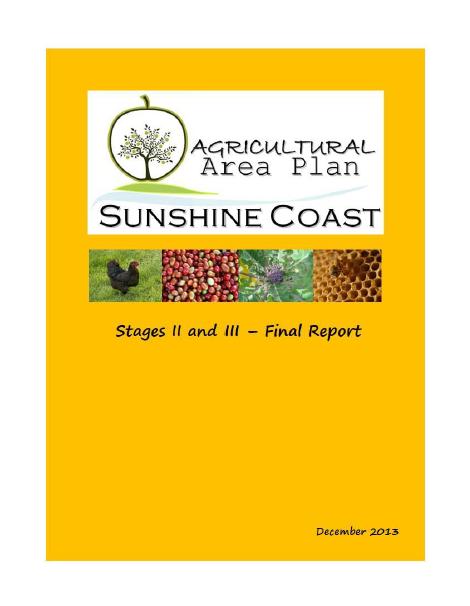 Sunshine Coast Agricultural Area Plan