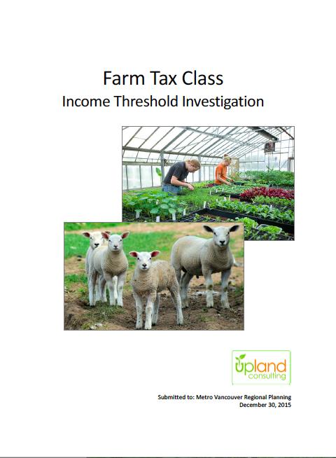 Farm Tax Class Income Threshold Investigation