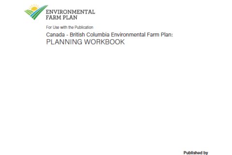 BC Environmental Farm Plan Reference Guide Update